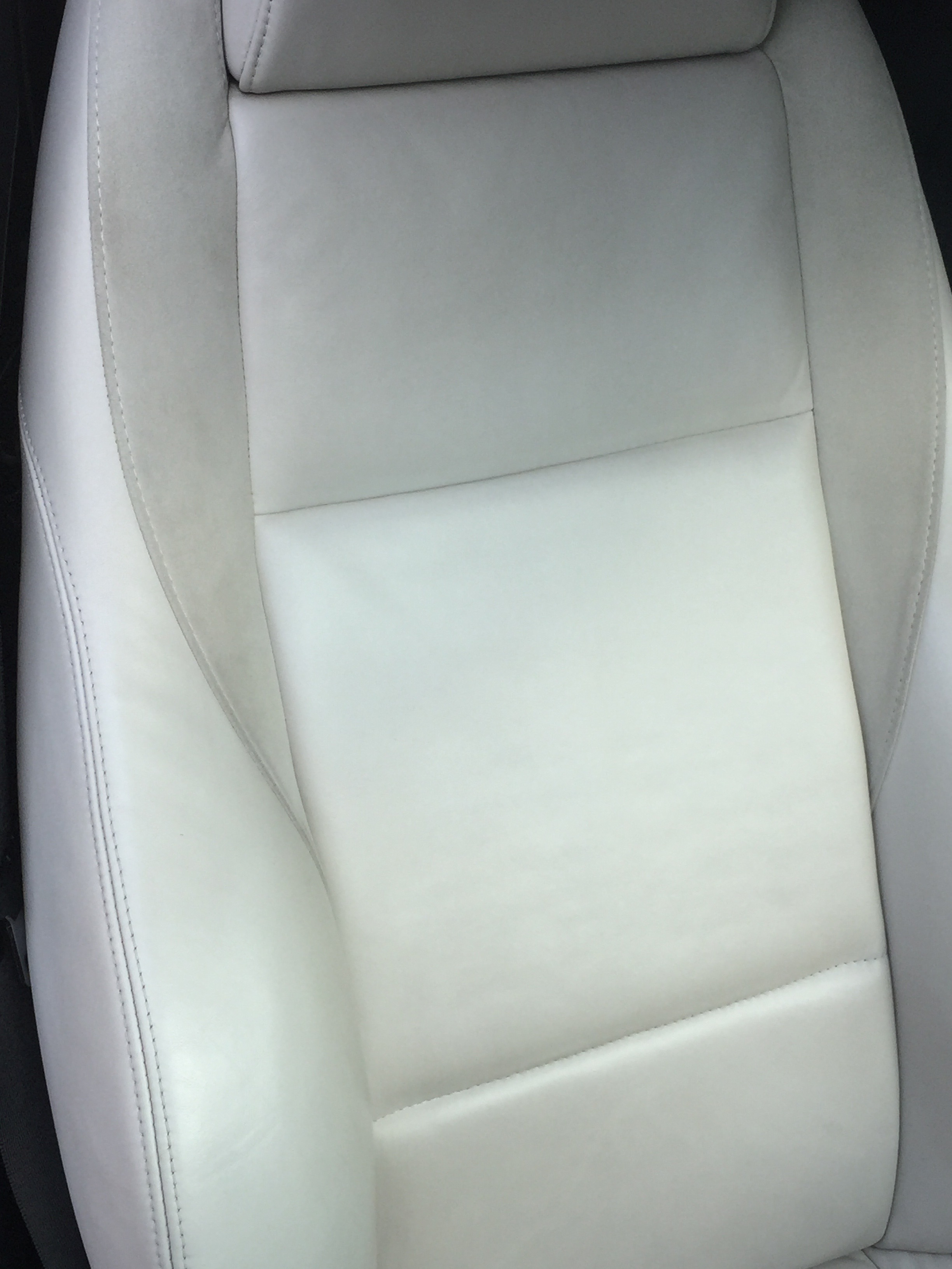 Bmw drivers seat cleaned and colour restored after 3str Sofa Colour